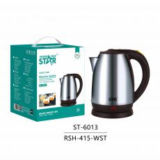 ST-6013 New Arrival WINNING STAR 220V-240V 1500W 2L 201 Stainless Steel Electric Kettle with utomatic Power Off Anti-Dry Burning VDE Plug