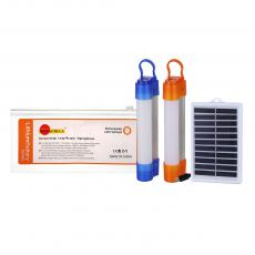 SA-7866 New Arrival SUN AFRICA LED Tube Solar System with T8 Aluminum-Plastic Emergency LED Tube 2 Step Switch USB/V8 Port Lithium Battery 1200mAh Opal Lampshade 6V/1W Polycrystalline Solar Panel 2m V8 Wire