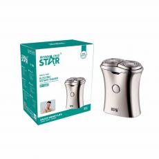 ST-5689 New Arrival WINNING STAR 5W Rechargeable Portable 2-Blade Electric Shaver Rotary Razor with Battery 250mAh Battery Display Travel Lock Washing Reminde